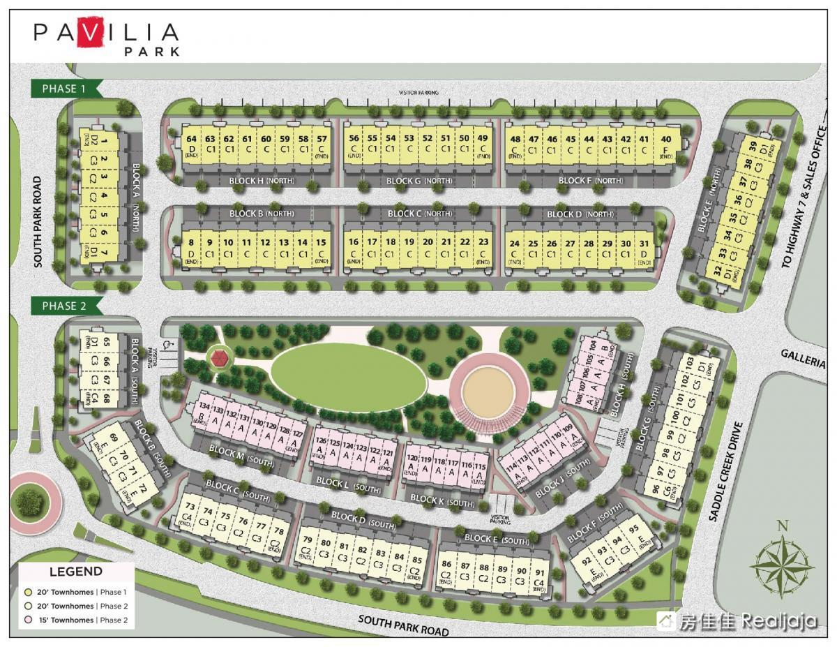 Pavilia Towns & Towers Site Map