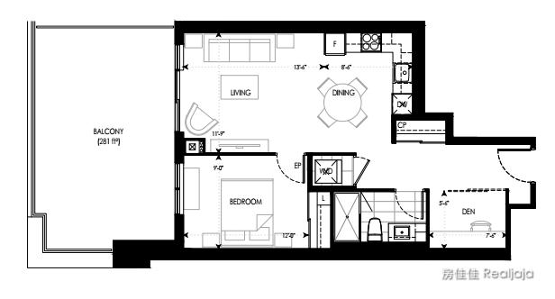 Pavilia Towers Floor Plan 1
